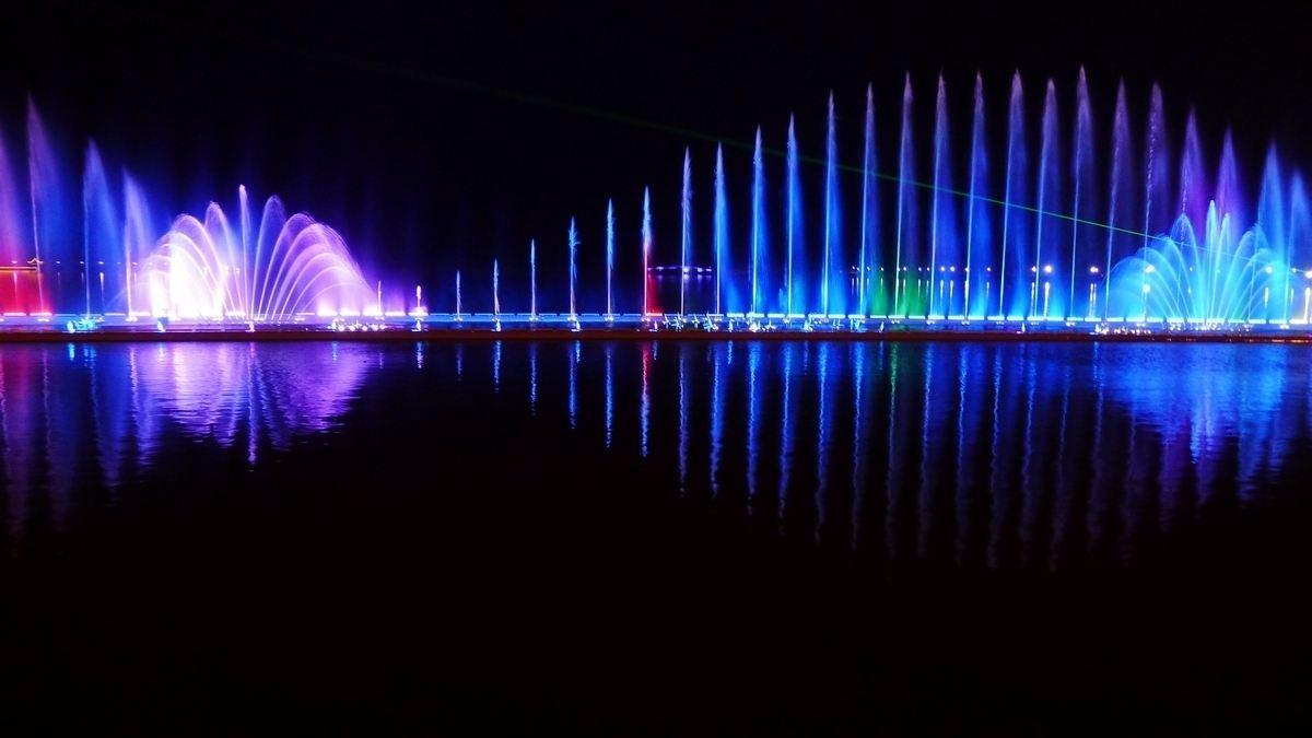 广场大型音乐喷泉改造